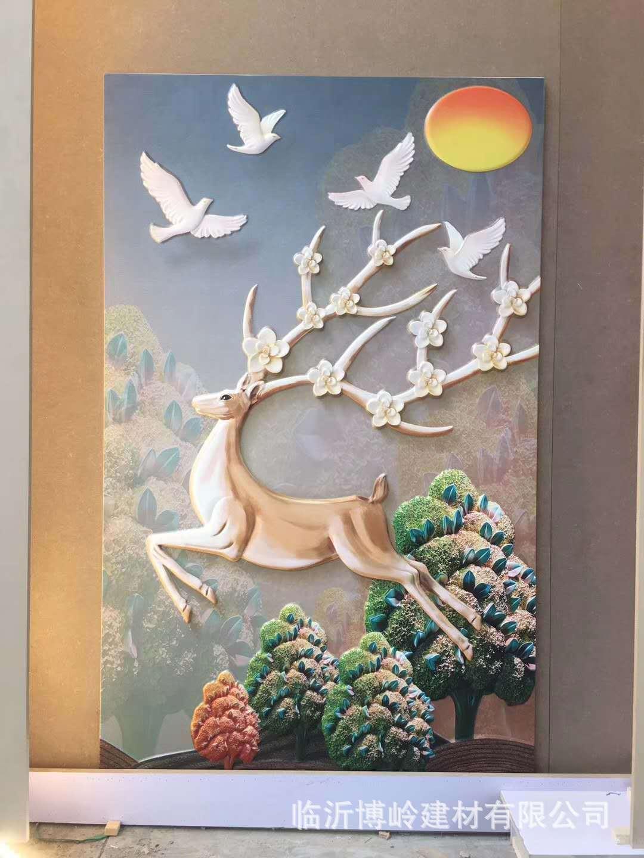 高端定制 沙发客厅卧室床头玄关背景墙 5D皮雕艺术背景墙示例图18
