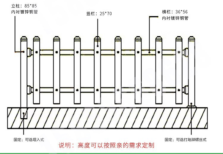 成品白色塑钢栅栏 园林绿化塑料栅栏pvc幼儿园围墙围栏  厂家直销示例图14