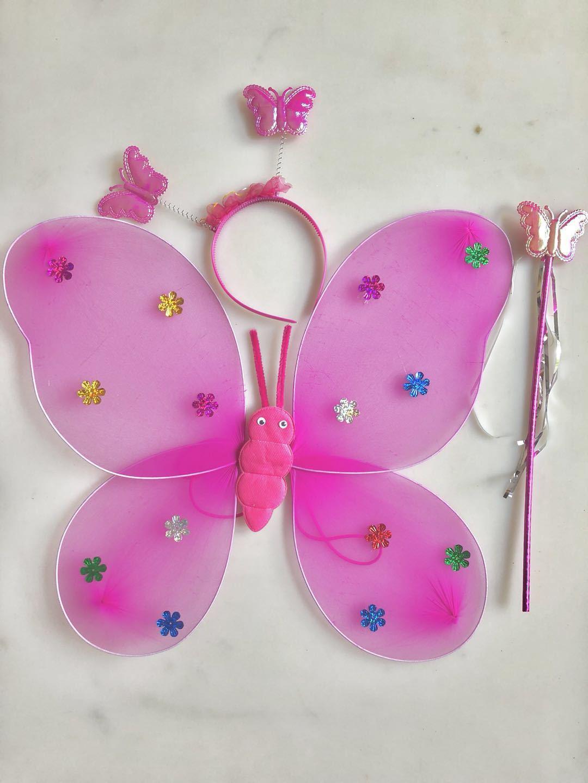 厂家直销蝴蝶翅膀单层三件套天使翅膀六一儿童演出蝴蝶翅膀示例图2