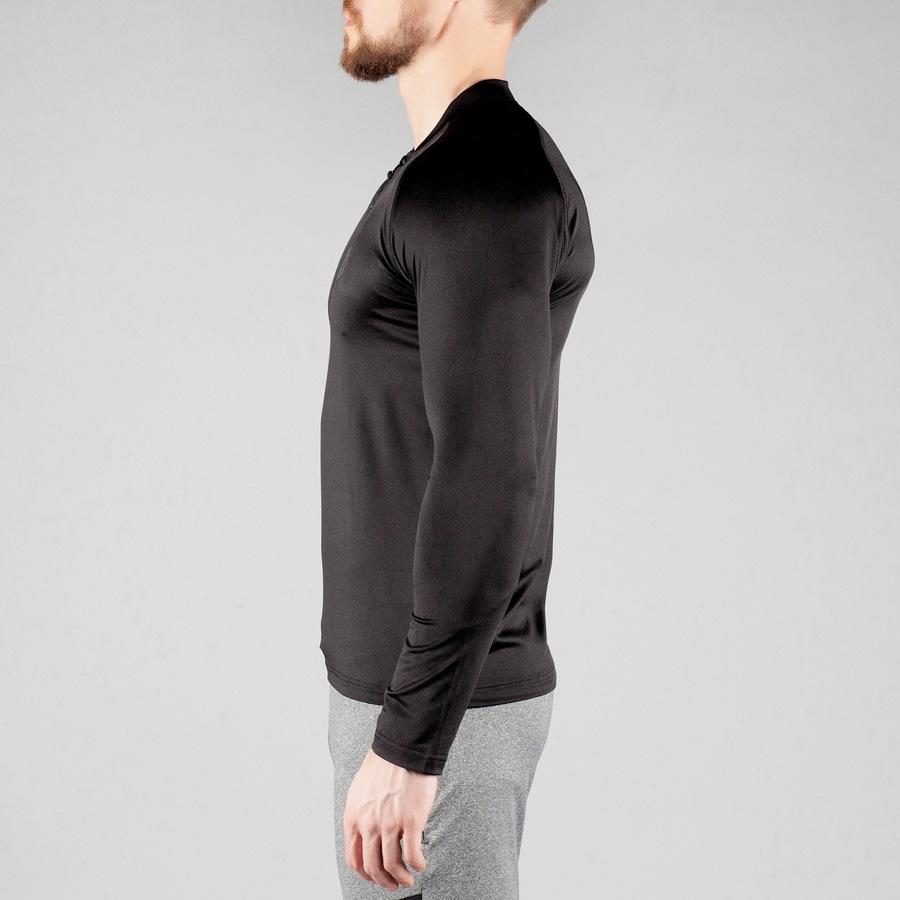 蒂贝鲨肌肉兄弟健身速干高弹长袖紧身上衣运动透气紧身长袖T恤示例图8