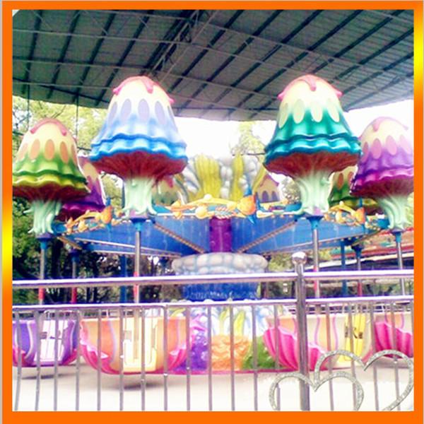 郑州大洋专业生产逍遥水母游乐设备 公园精品游乐8臂旋转逍遥水母示例图1