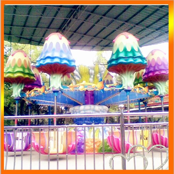 郑州大洋专业生产逍遥水母游乐设备 公园精品游乐8臂旋转逍遥水母示例图5
