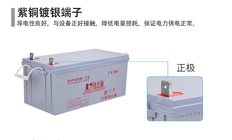 厂家直销12V200Ah铅酸免维护蓄电池 上海监控安防ups电源定制包邮示例图4