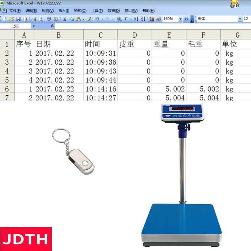 JDTH巨鼎天衡AO919E電子秤插u盤  儀器醫療廢物回收分類,100KG醫院各科室用垃圾回收電子秤
