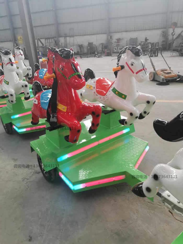 跑马火车,骑士小队,骑马无轨小火车,起伏马火车骑仕火车新款儿童游乐设备到郑州大洋游乐设备厂家直销骑士小队小火车生产厂家示例图20