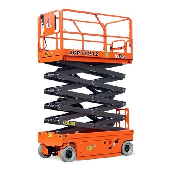 10米升降平臺出租,廣州增城區安裝天花板用工程升降平臺出租,JCPT1212HD型號