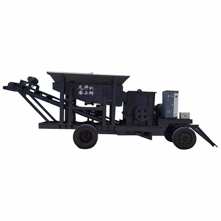 轮胎式移动破碎机 炉渣破碎机 移动破碎机 锤式破碎机 工作可靠