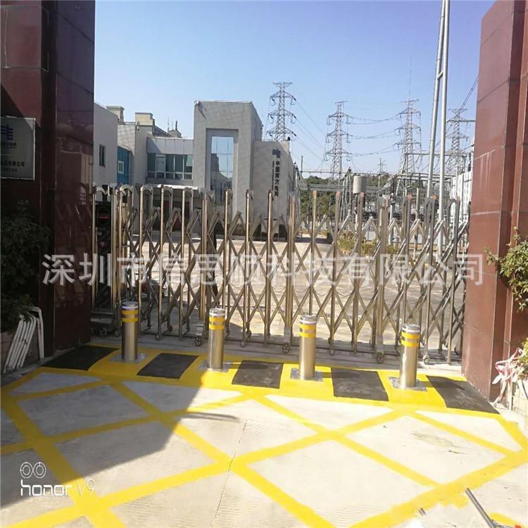 深圳路障廠家供應學校不銹鋼擋車升降柱
