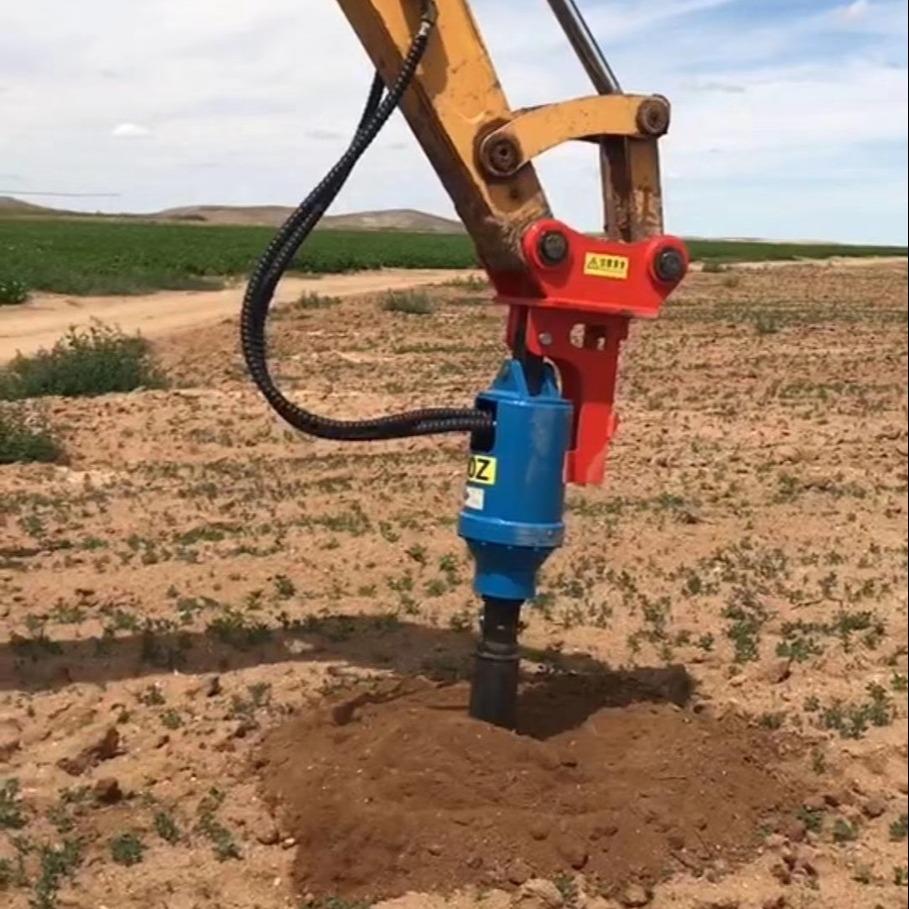 常年供應優質 勾機改旋挖機挖機螺旋鉆小挖機改鉆機華力挖改螺旋鉆