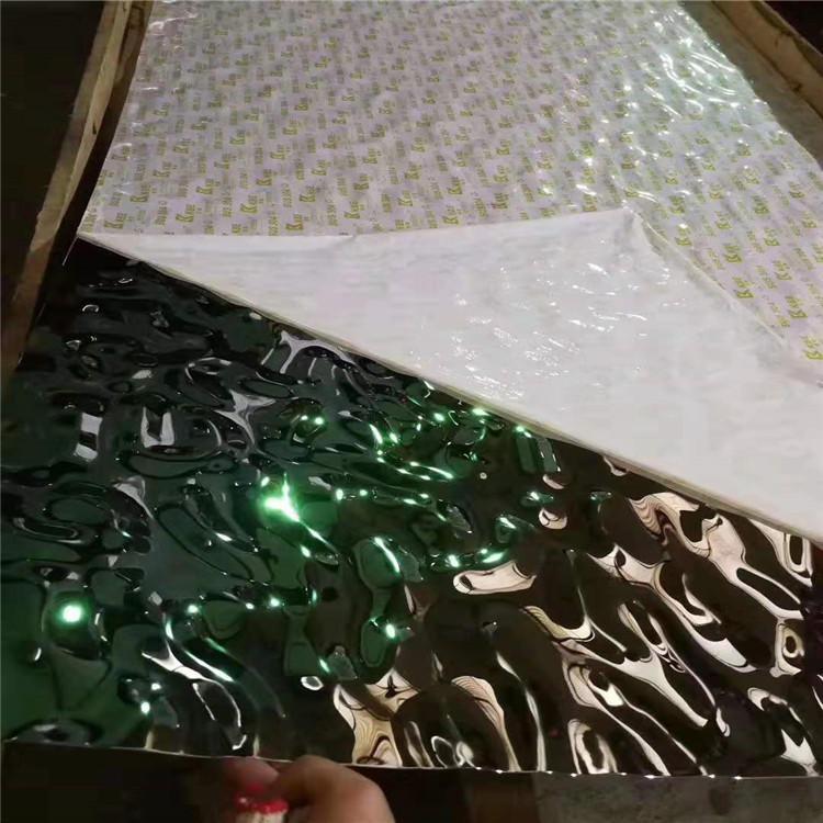 不锈钢流动水波纹板 紫罗兰不锈钢大水波纹板 天花吊顶不锈钢板 厂家直销