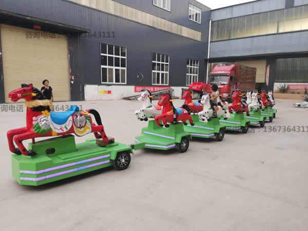 跑马火车,骑士小队,骑马无轨小火车,起伏马火车骑仕火车新款儿童游乐设备到郑州大洋游乐设备厂家直销骑士小队小火车生产厂家示例图21
