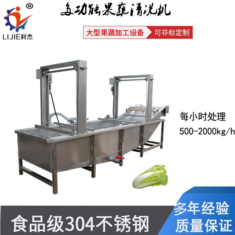 利杰LJQX-4000 全自動氣泡清洗機 利杰毛桃氣泡清洗機 全自動鼓泡洗菜機 專業生產廠家