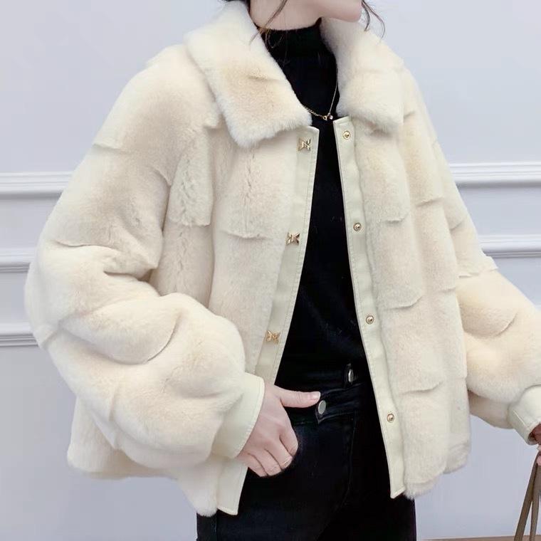 轻奢外套丹麦貂绒大衣女外套2021新款冬季中长款妈妈装一体时尚气质厚 商场货源供应示例图1