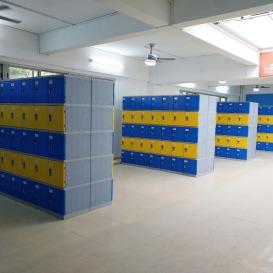 彩色更衣柜 员工储物柜 游泳馆浴室健身房防水abs塑料更衣柜