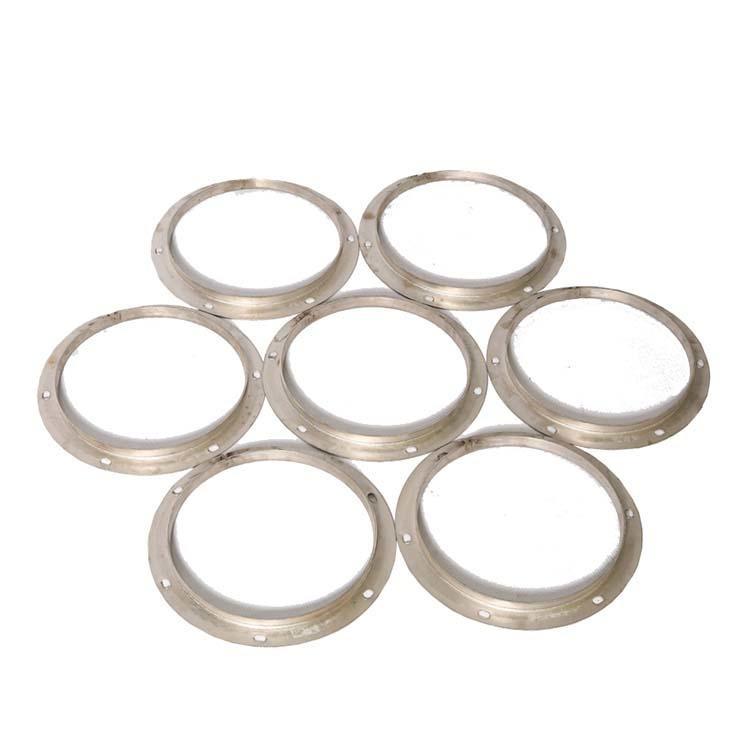 2.5mm通風管道連接不銹鋼沖壓法蘭定制圓形不銹鋼鋼帶法蘭圖片