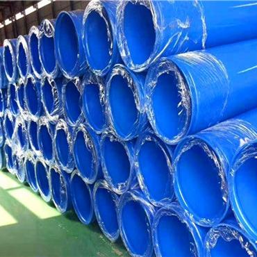 給水用溝槽連接涂塑復合螺旋管 給水用溝槽連接環氧樹脂涂塑鋼管 給水用溝槽連接外PE內EP涂塑鋼管