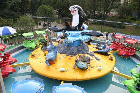 郑州大洋2020重磅推出新款6臂激战鲨鱼岛 亲子互动大型游乐激战鲨鱼岛游乐设备场地游艺设备示例图11