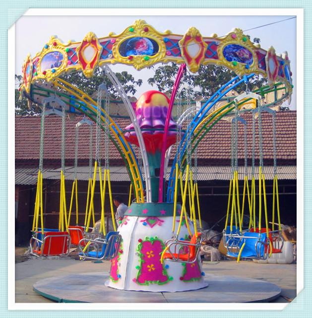 儿童12座迷你飞椅游乐设备 旋转飞椅大洋游乐厂家专业定制生产示例图5