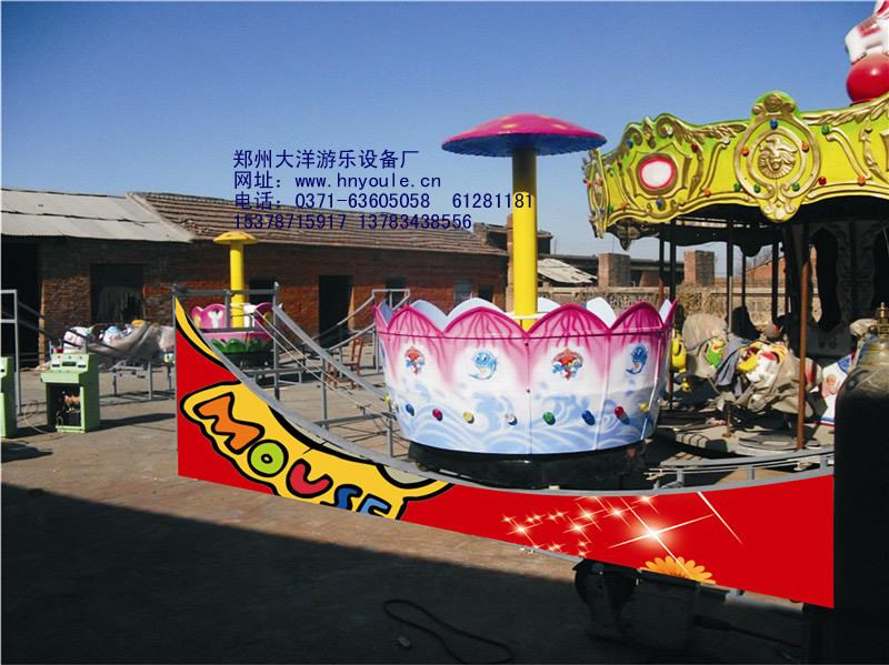 2020大洋厂家供应360度旋转欢乐飞车 8座迷你飞车广场儿童游乐设备示例图15