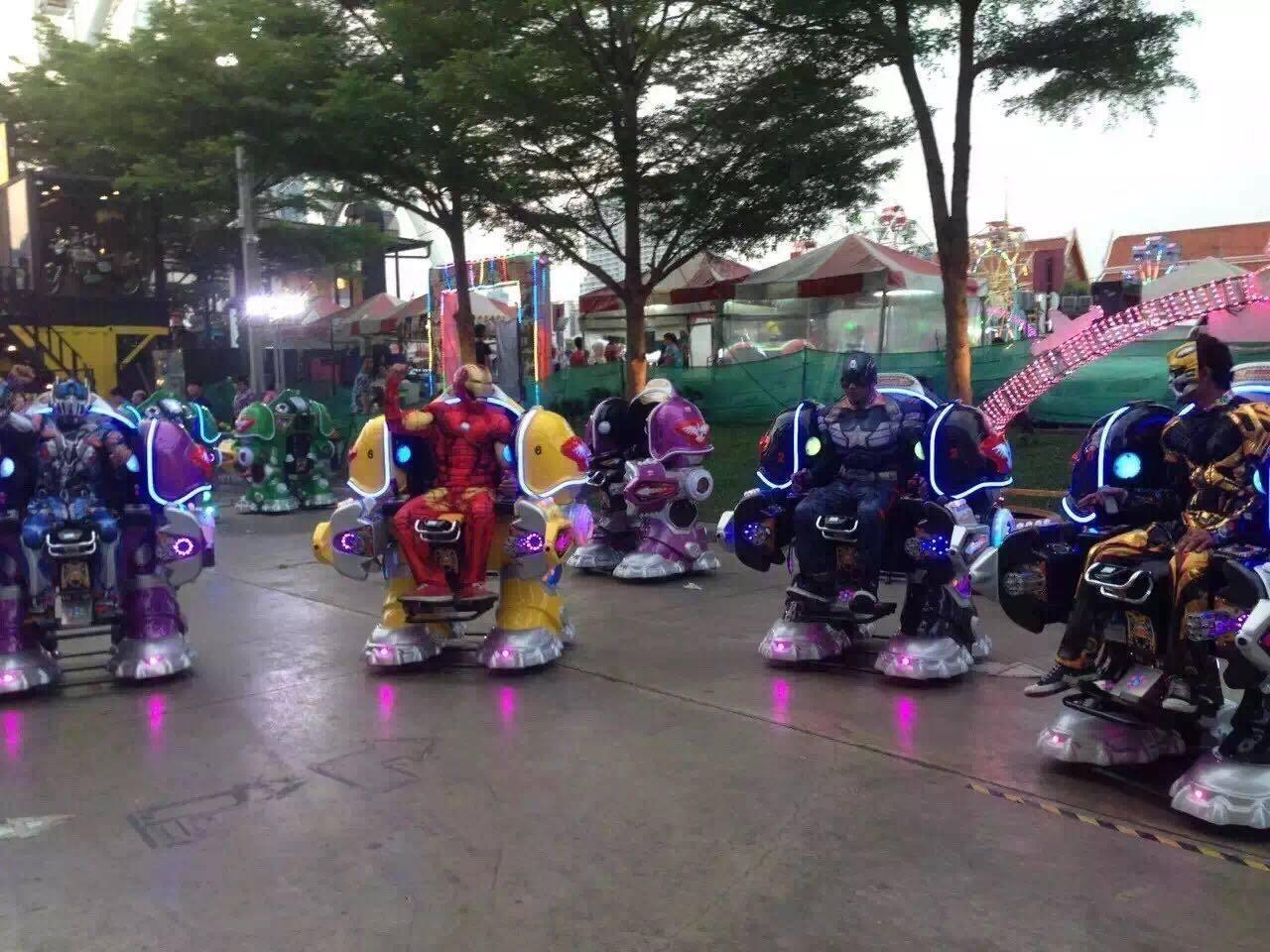 大洋广场小投资项目机器人战火金刚游乐设备 广场行走可乐侠机器人示例图5