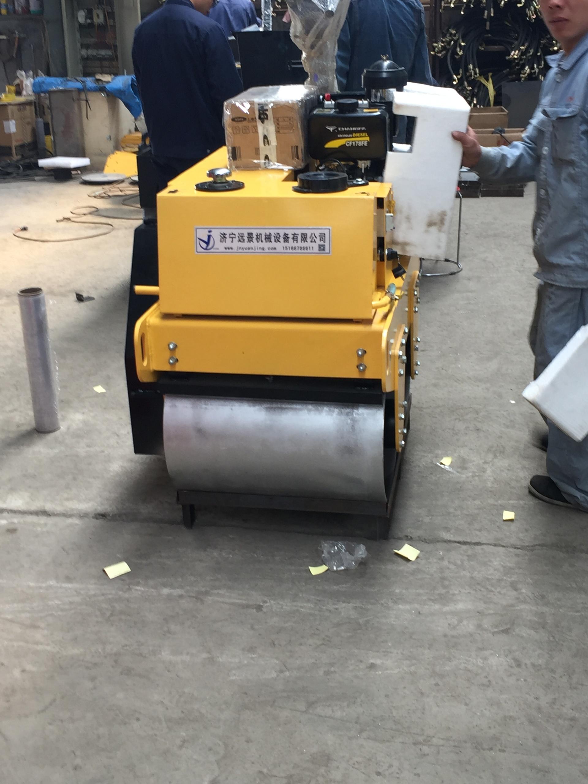 远景机械热销重型单轮压路机 加重款YJ730柴油压路机 手扶式压路机 小型压路机示例图13
