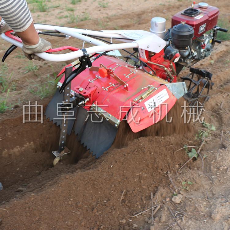 厂家直销 四驱微耕机 汽柴油大马力微耕机 ZC-170型旋耕锄草机 志成示例图9