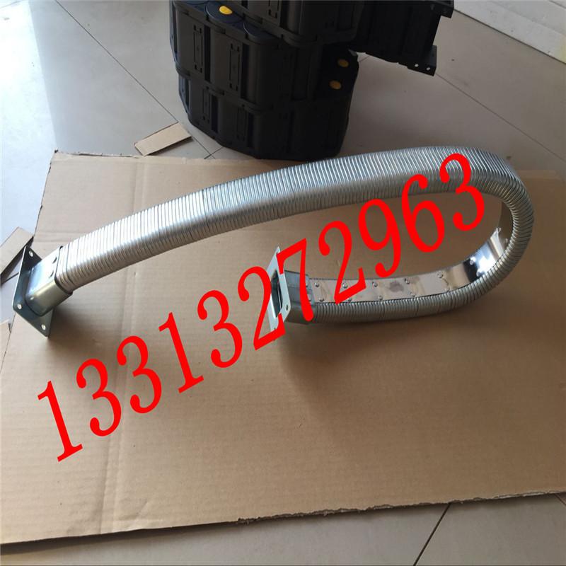 弯曲灵活穿线矩形管 矩形金属软管 线缆保护移动拖链 金属矩形管  耐高低温示例图7