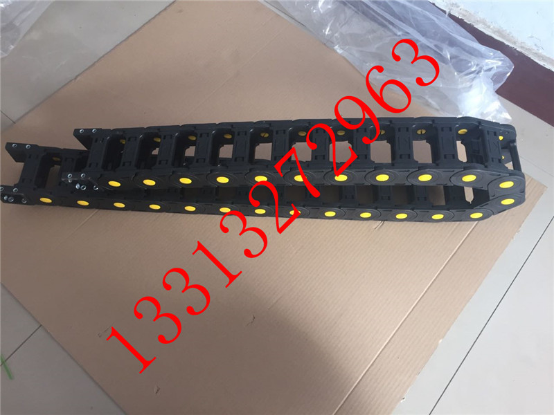 方形接头尼龙66机床拖链 塑料拖链  工程拖链 桥式拖链 全封闭增强拖链示例图8