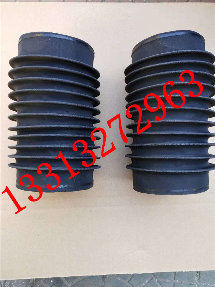 圆筒伸缩式丝杠防护罩 油缸圆形防尘罩 气缸光轴保护套 伸缩式圆形防护罩可以水平或垂直使用示例图7