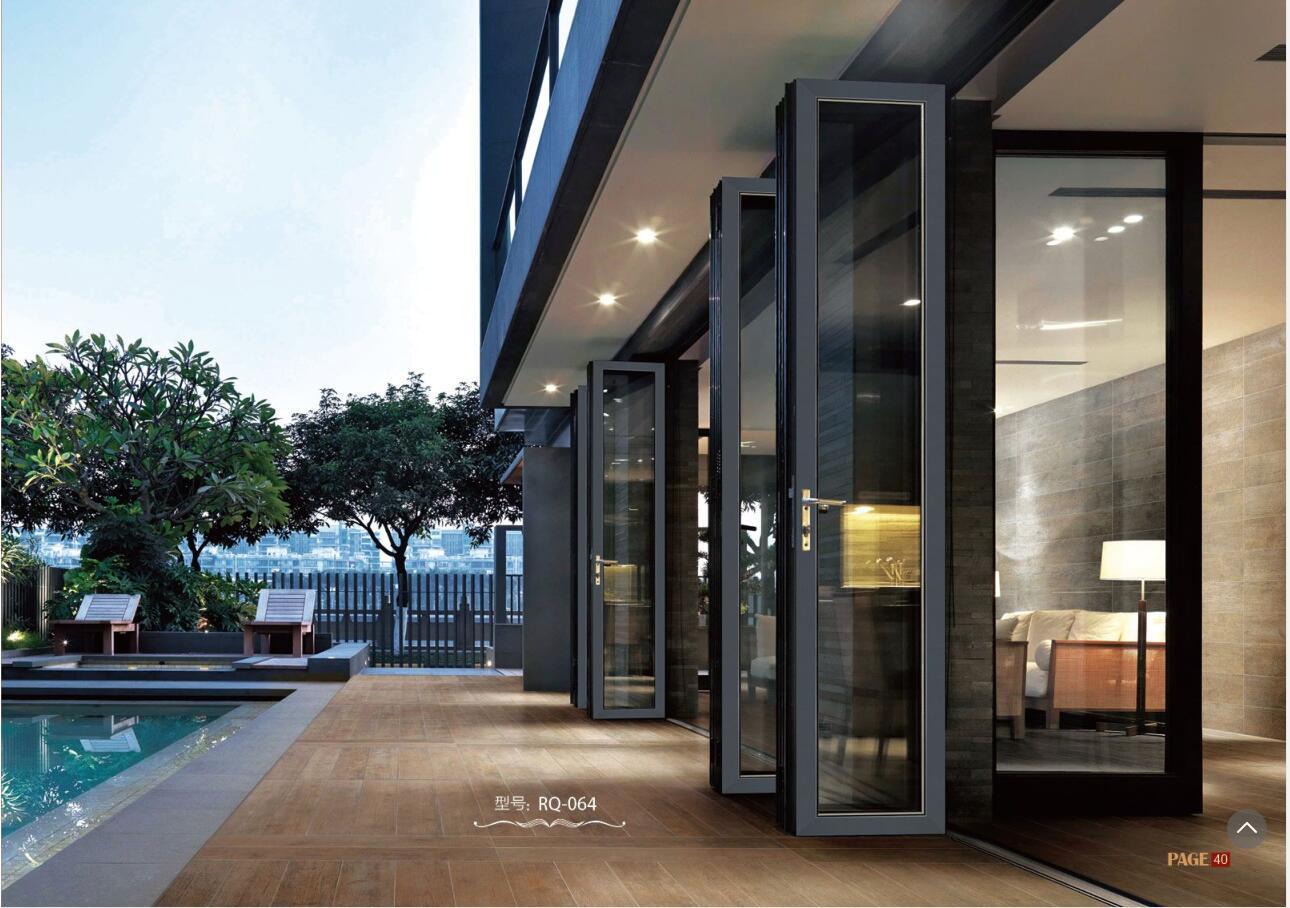 丽江金意享铝合金折叠门 酒店会所商场重型折叠大门 空间开启大示例图14