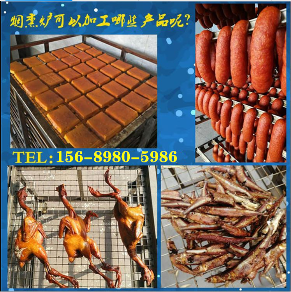 香肠加工全套设备 哈红肠加工设备 豆干烟熏设备 腊肉烟熏机器示例图2