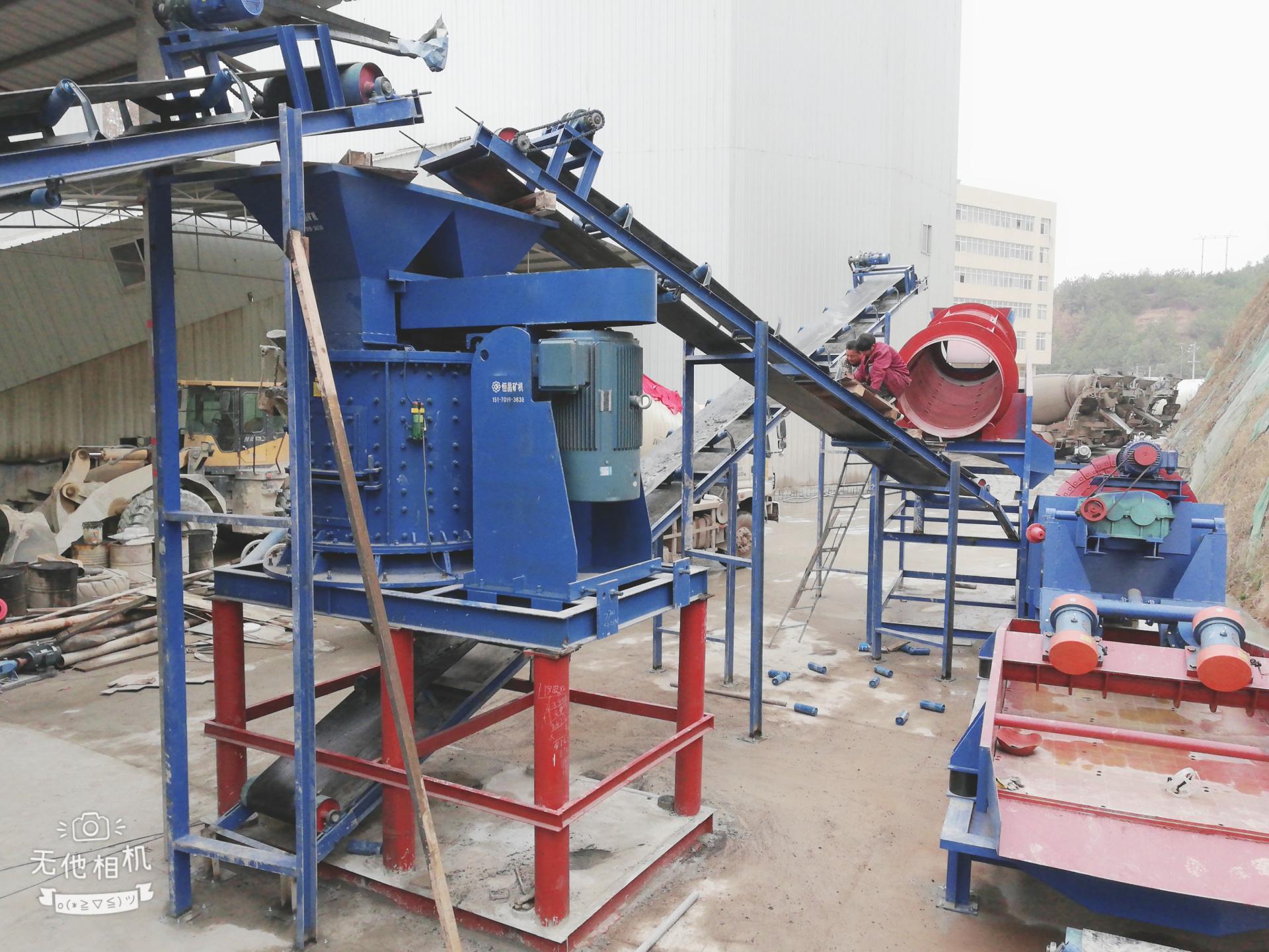 立式煤矸石制砂機 粗細可調復合式玻璃粉碎機 建筑垃圾復合破碎機示例圖10